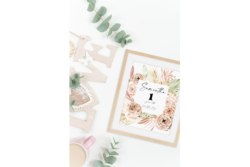 watercolor-boho-floral-frame-dried-flower-logo-png-tropical-watercolor-clipart-with-dried-palm-leaves-for-wedding-invitation-baby-shower