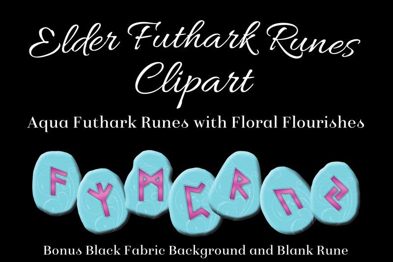aqua-flourish-elder-futhark-runes-set-clipart-images