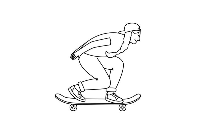 skateboarder-girl-sketch