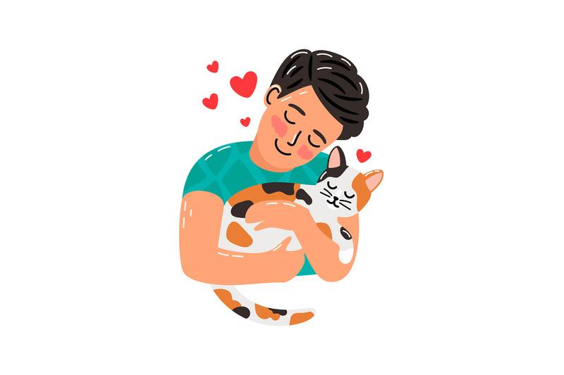 pet-owner-man-and-cat