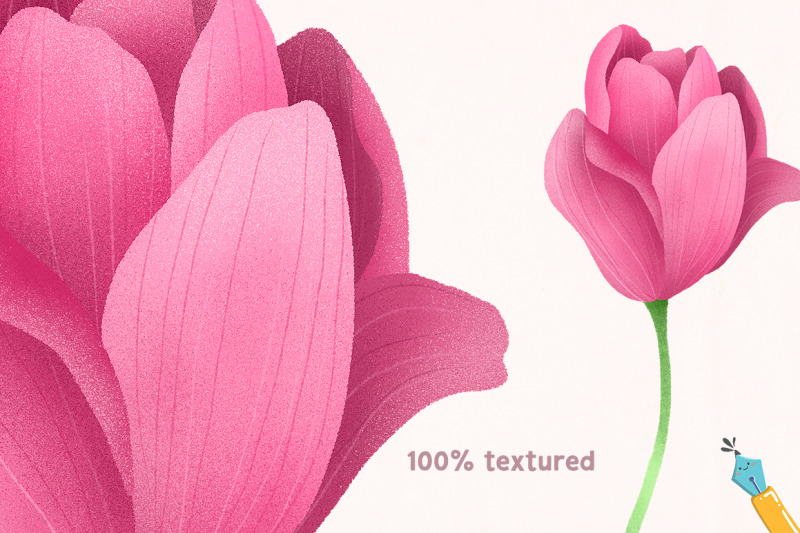 pink-tulips-hand-drawn-floral-illustrations