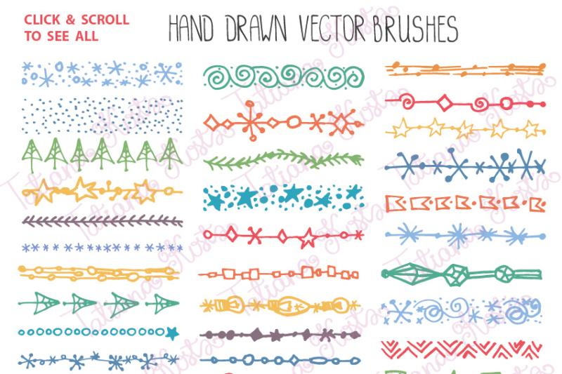 christmas-holiday-brushes