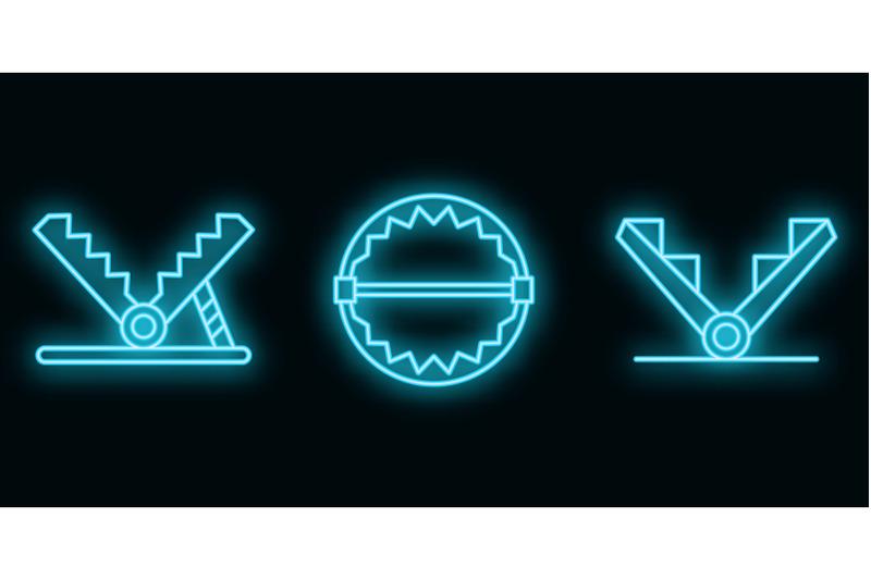 trap-icons-set-vector-neon