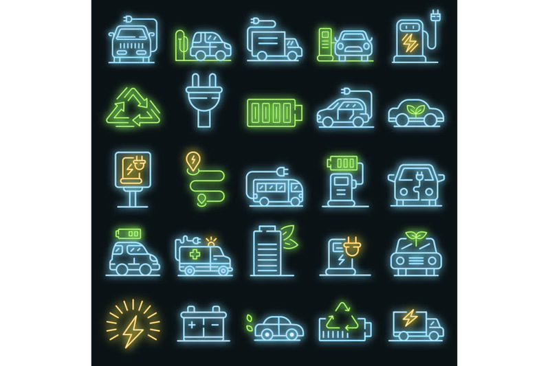 electrical-refueling-icons-set-vector-neon