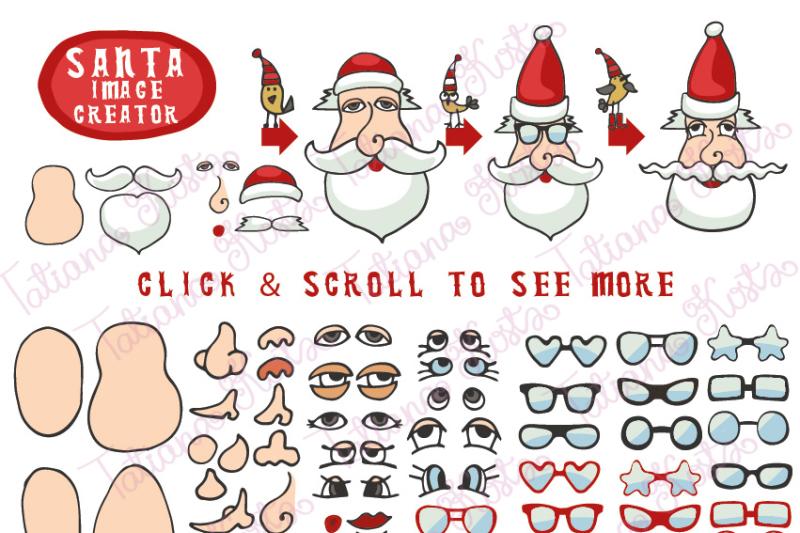 Santa Faces Creator By Tatiana Kost Thehungryjpeg Com