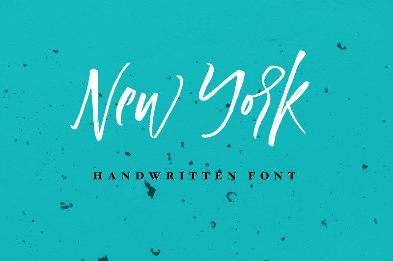 new-york-handwritten-font