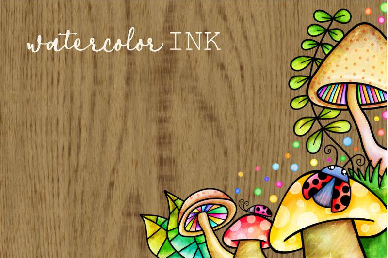 spring-borders-watercolor-doodle-frames