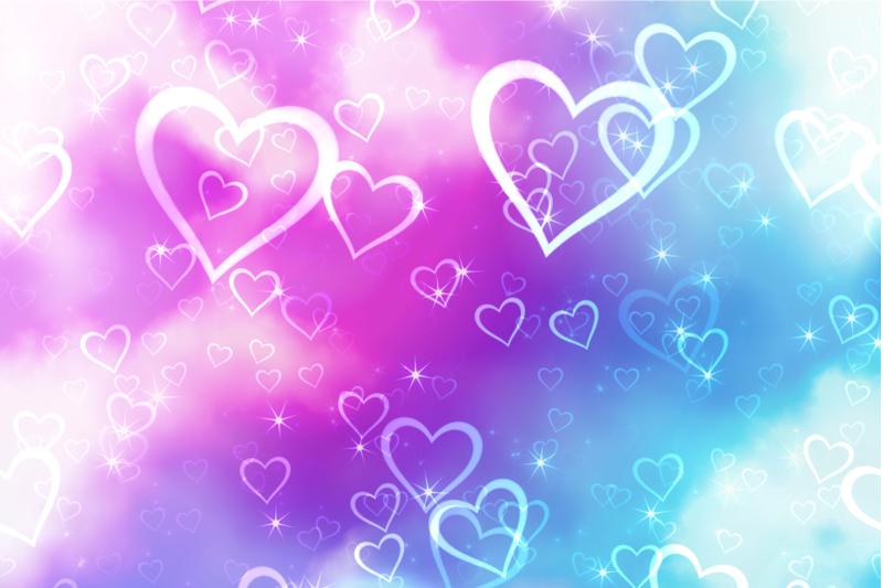 dreamy-love-heart-shape-pattern-papers