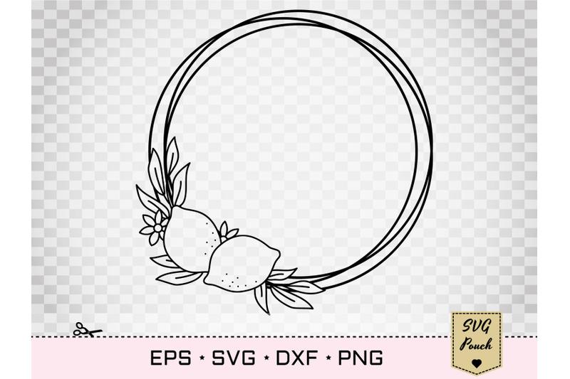 lemon-border-wreath-svg