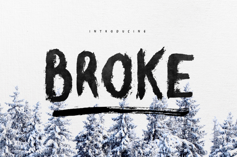 broke-typeface