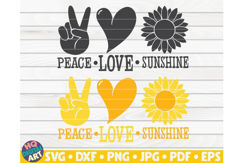 peace-love-sunshine-svg-sunflower-quote-svg
