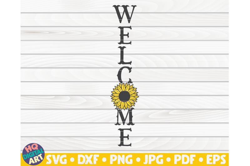 vertical-welcome-sign-svg-sunflower-sign-svg