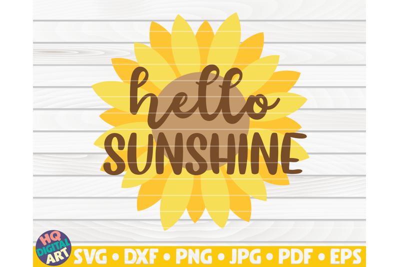hello-sunshine-svg-sunflower-quote-svg