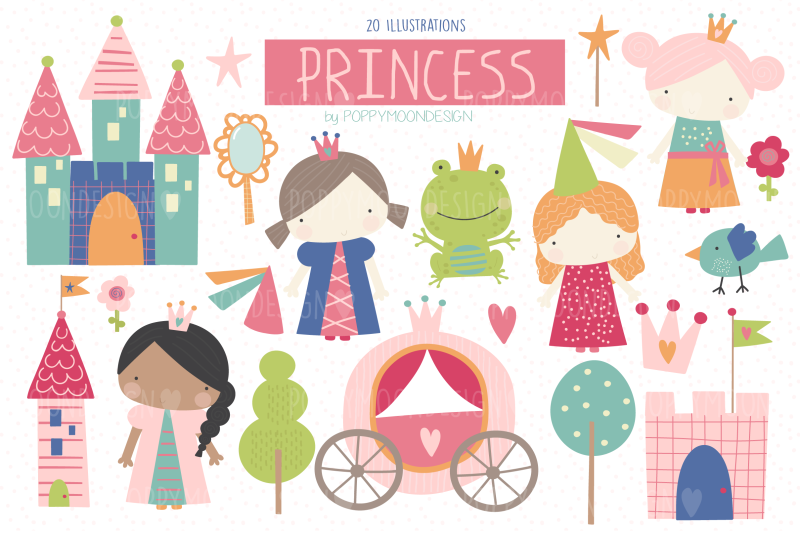 princess-clipart-set