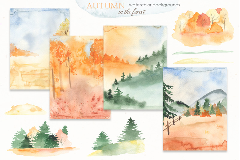 autumn-in-the-forest-watercolor