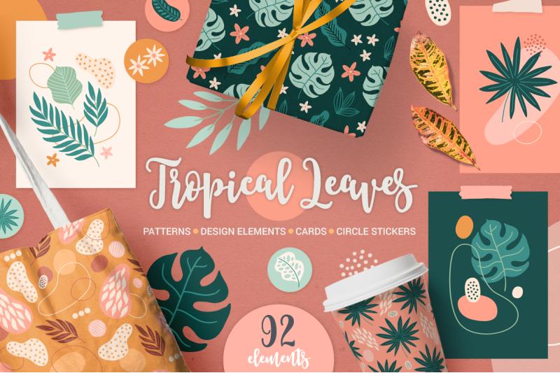 tropical-leaves-kit
