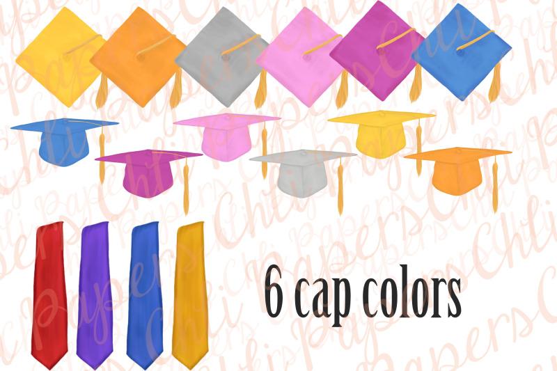 graduation-clipart-graduation-gowns-family-clipart-grad-hats