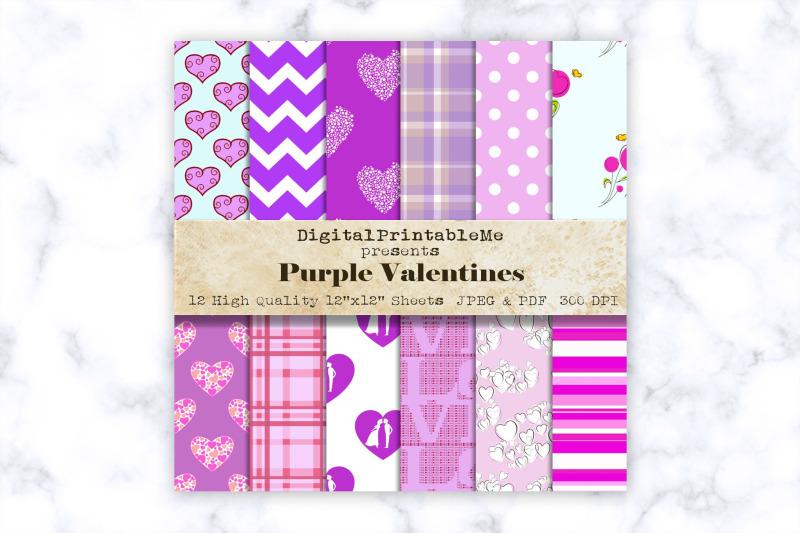 purple-mixed-pattern-digital-paper-love-romance-12-quot-x-12-quot-scrapbook