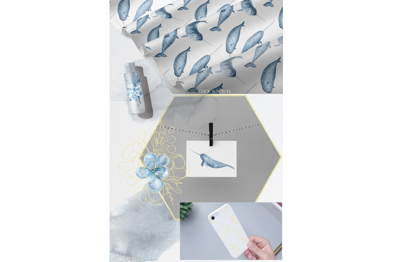 watercolor-narwhals-and-blue-flowers-magnolia