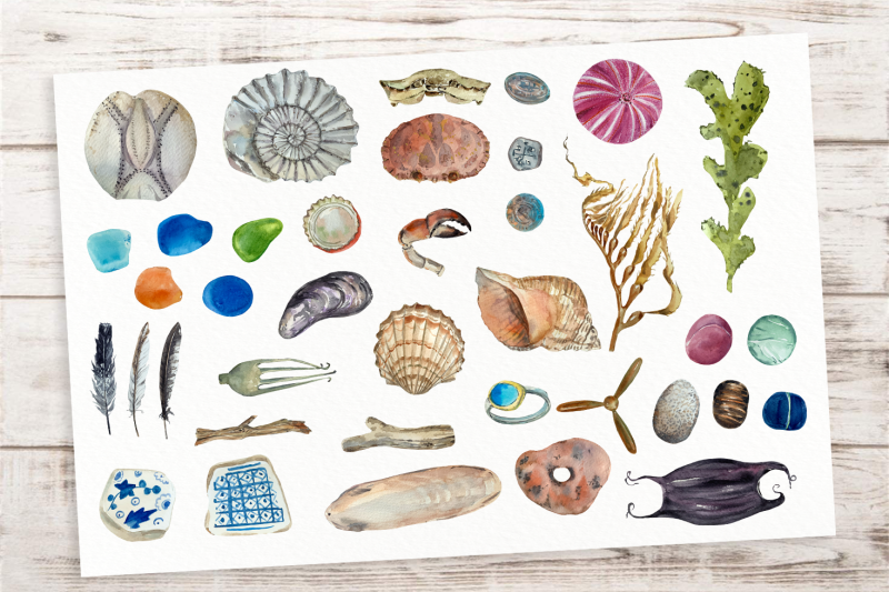 beachcombing-clip-arts-and-poster