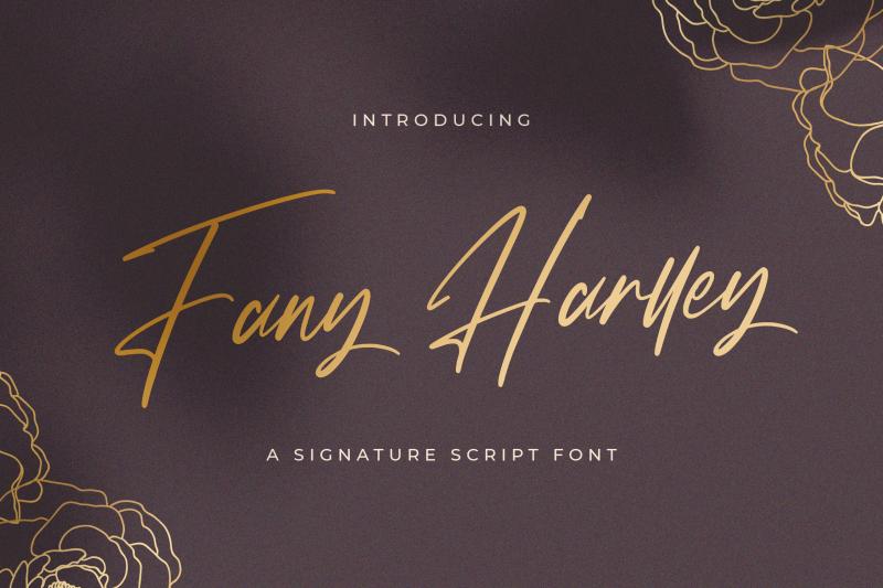 fany-harlley-handwritten-font