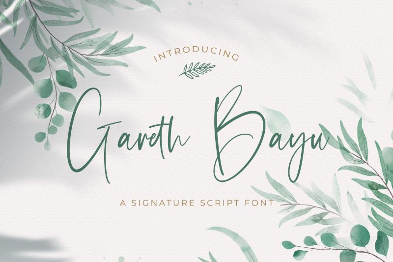 gareth-bayu-handwritten-font