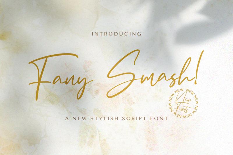 fany-smash-handwritten-font