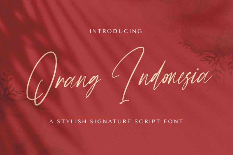 orang-indonesia-handwritten-font