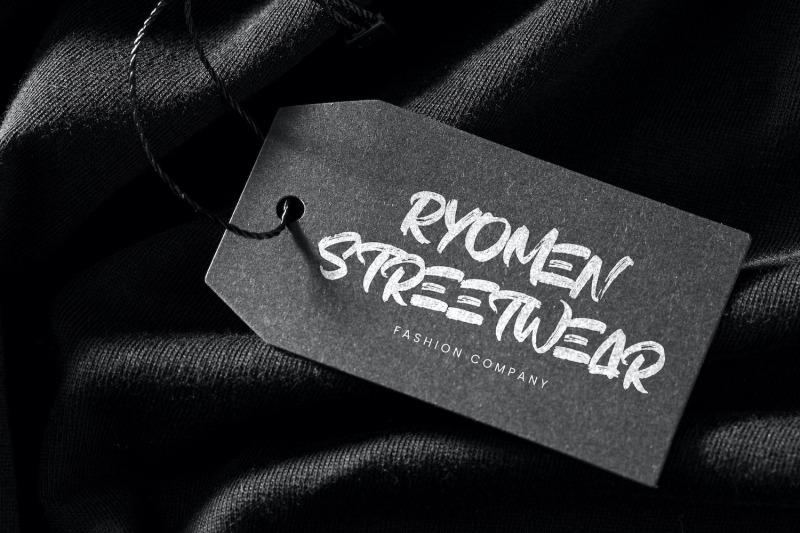 hiruzen-exists-textured-brush-font