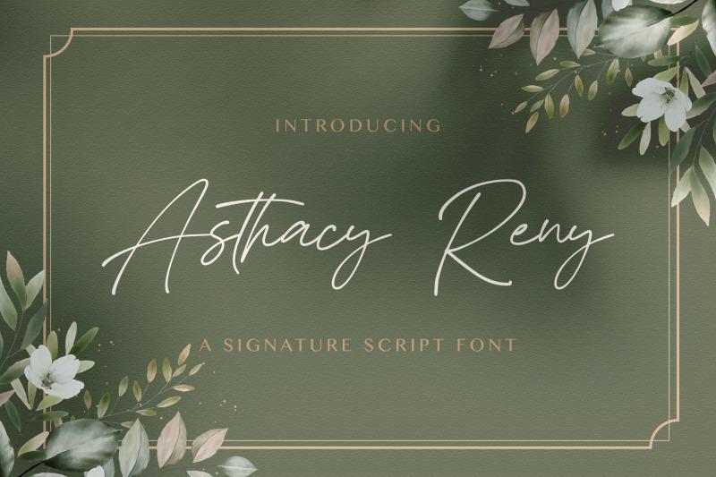 asthacy-reny-handwritten-font