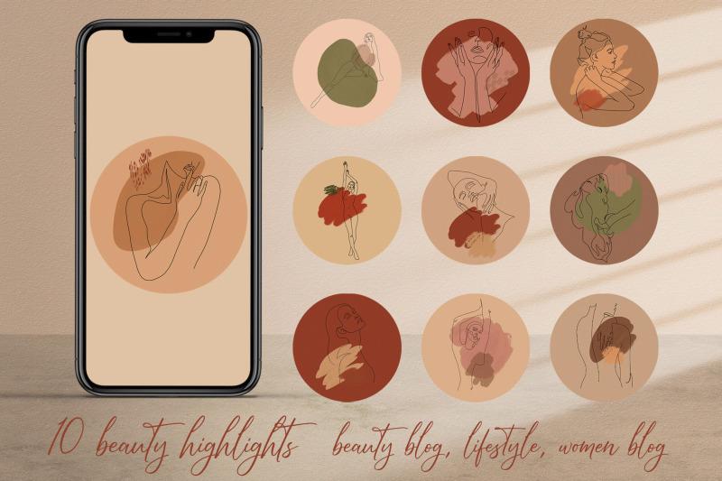 instagram-highlight-covers-10-woman-blog-logo-line-art-icon