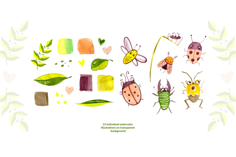 cute-insects-clipart-set