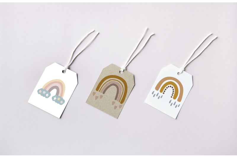 cute-vector-rainbows-clipart-set