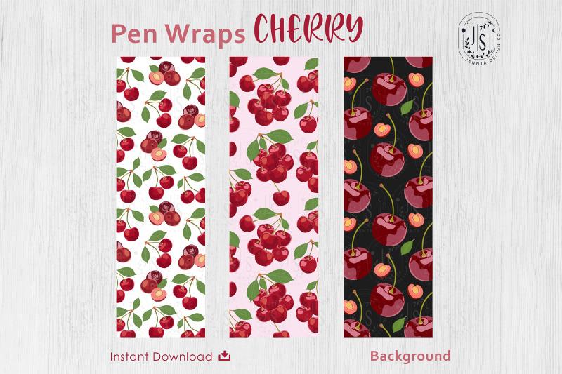 cherry-berry-pen-wraps-png-file-set