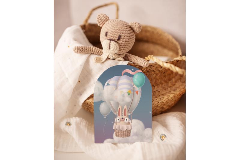 hot-air-balloon-with-animals-cute-clipart-set