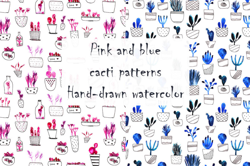 pink-and-blue-cacti-patterns
