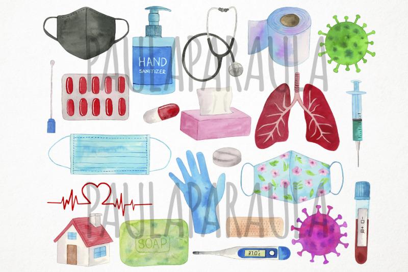 watercolor-virus-clipart-quarantine-clipart-pandemic-clipart