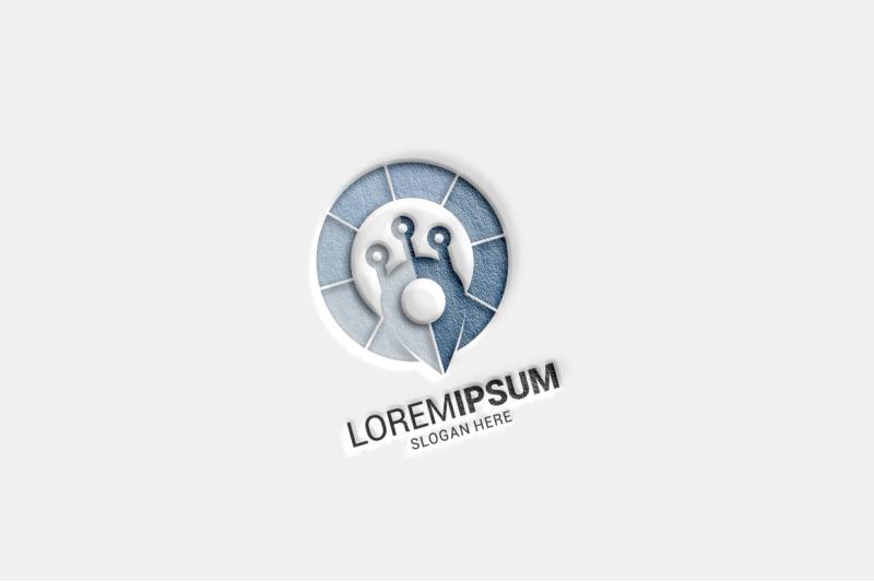 tech-pin-logo-template