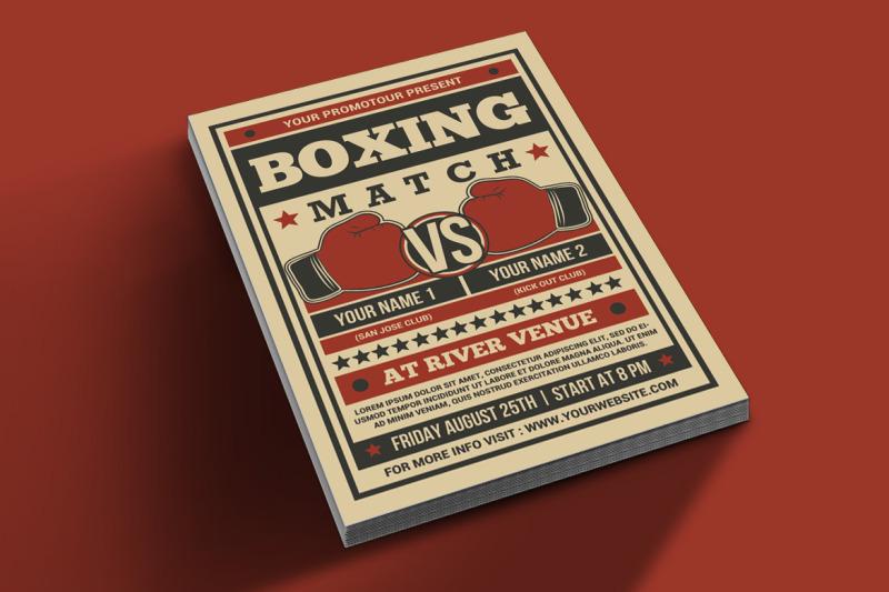 boxing-match-flyer