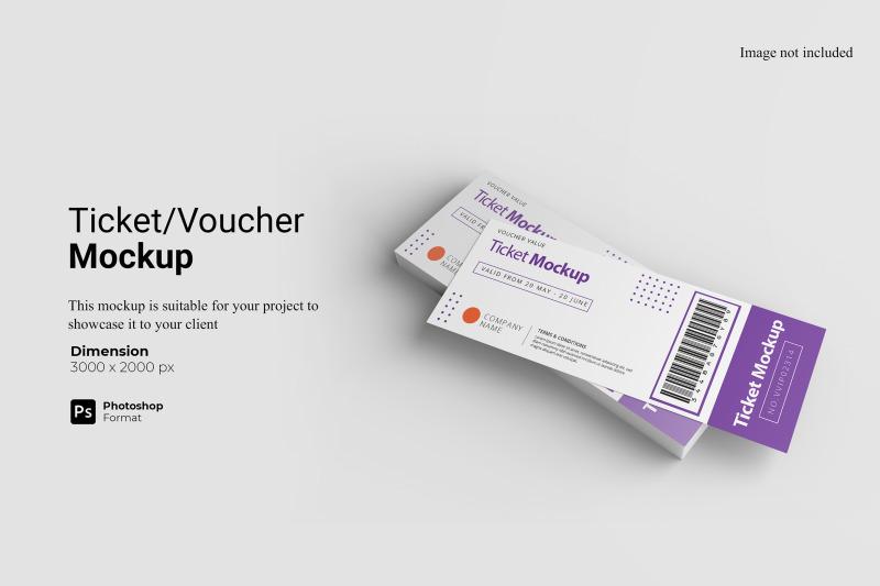 Download Ticket Voucher Mockup Free Mockups