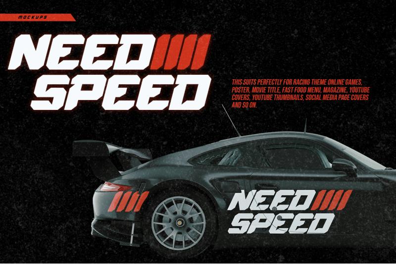speed-rush-a-car-racing-display-font