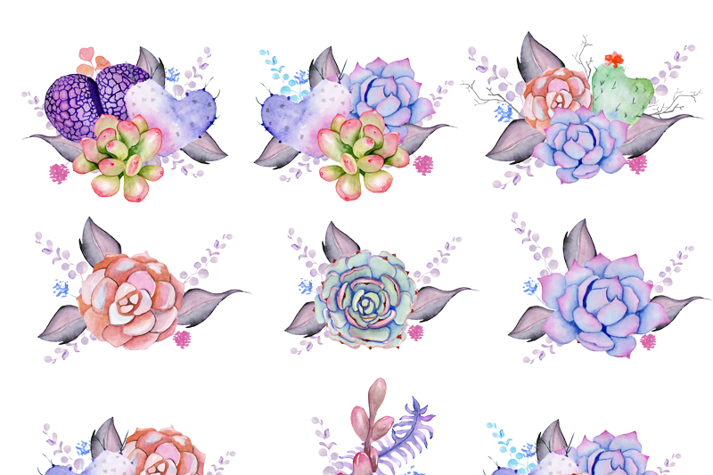 stylish-watercolor-succulents-wreath-amp-bouquets-hand-painted-clipart-invite-diy-greeting-card