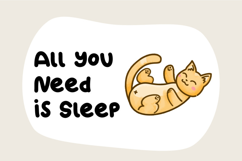 kitto-katto-cat-font-duo-with-bonus