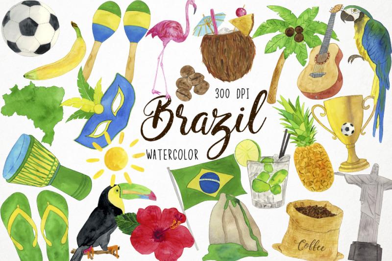 watercolor-brazil-clipart-brasilian-clipart-rio-de-janeiro-clipart