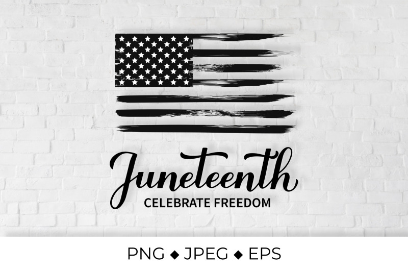 juneteenth-lettering-distressed-freedom-day-flag