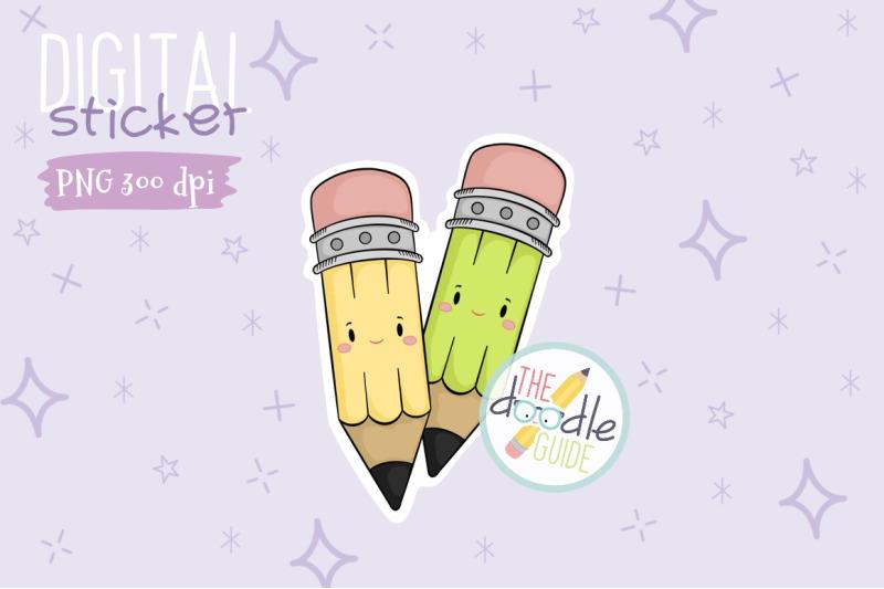 pencil-sticker