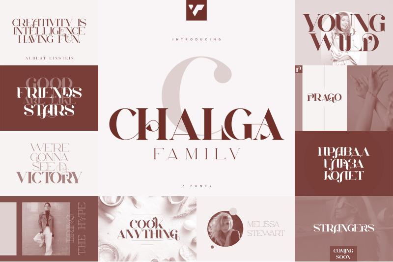 chalga-family-7-fonts
