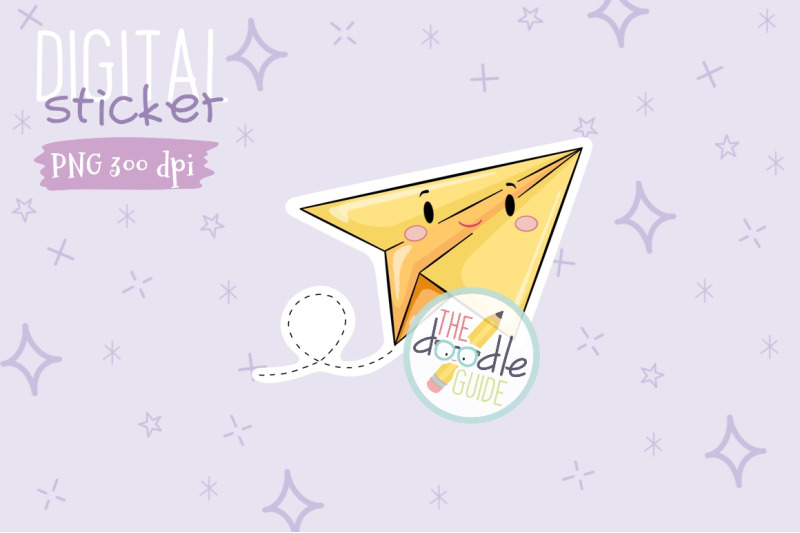 paper-plane-sticker