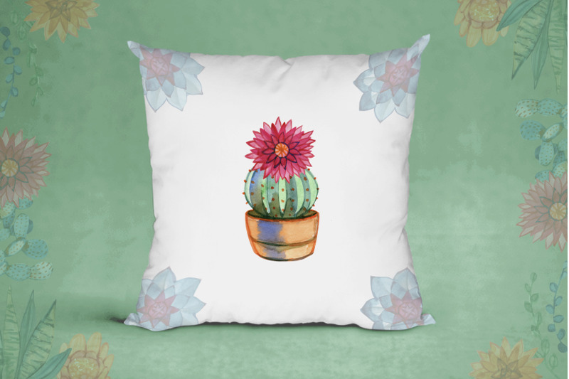 watercolor-cacti-and-succulents
