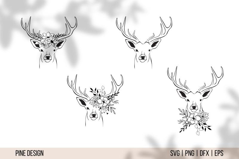 floral-animals-flower-animals-svg-bundle-tiger-deer-wolf-bee